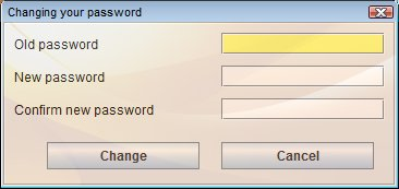 SafeCase PC changing password