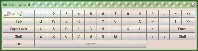 SafeCase PC virtual keyboard